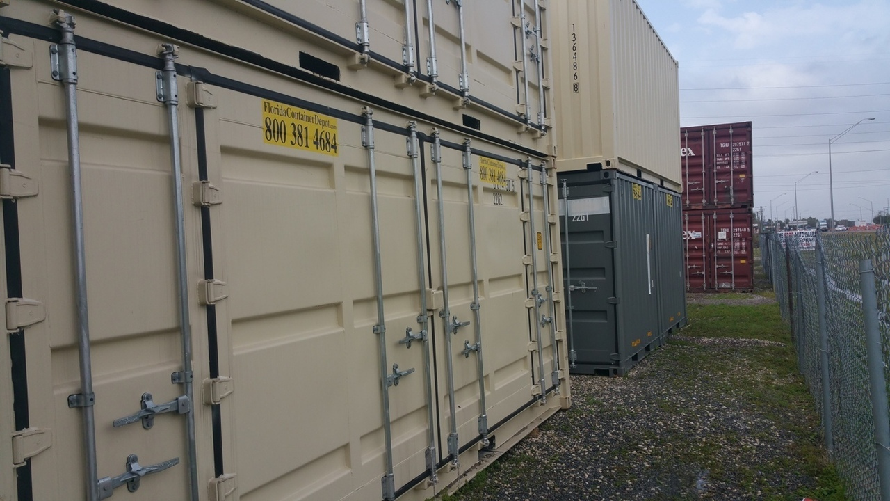 shipping container 20ft side opener one trip tampa fl