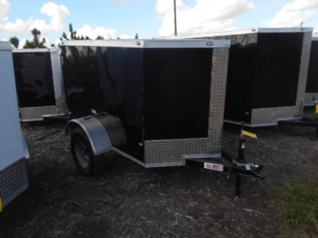 4x6 Enclosed Trailer >> 2018 Peach Cargo Pc46sa 4x6 Cargo Trailer Side Door And Ramp For Sale In Davenport Fl Equipment Trader