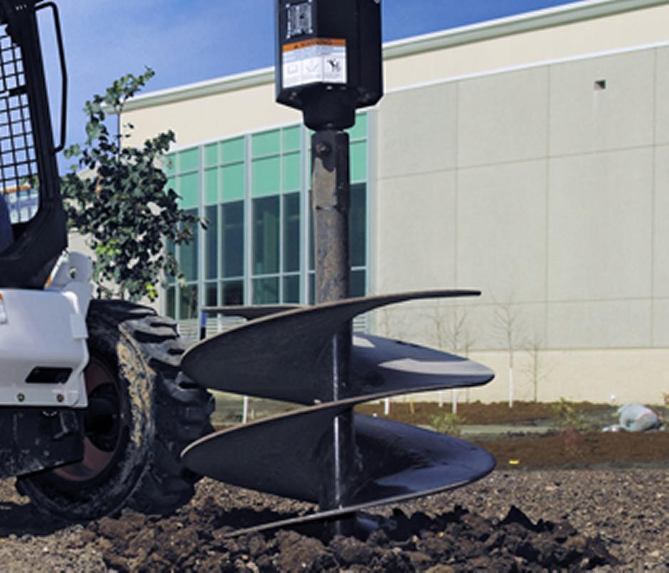 """Fits Skid Steer Auger Attachments Mini Skid /& Excavator Eterra Auger Bit 24/"""""""